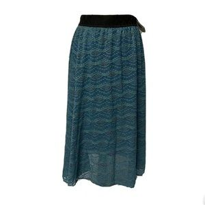 Lularoe Lola M Blue Green midi skirt